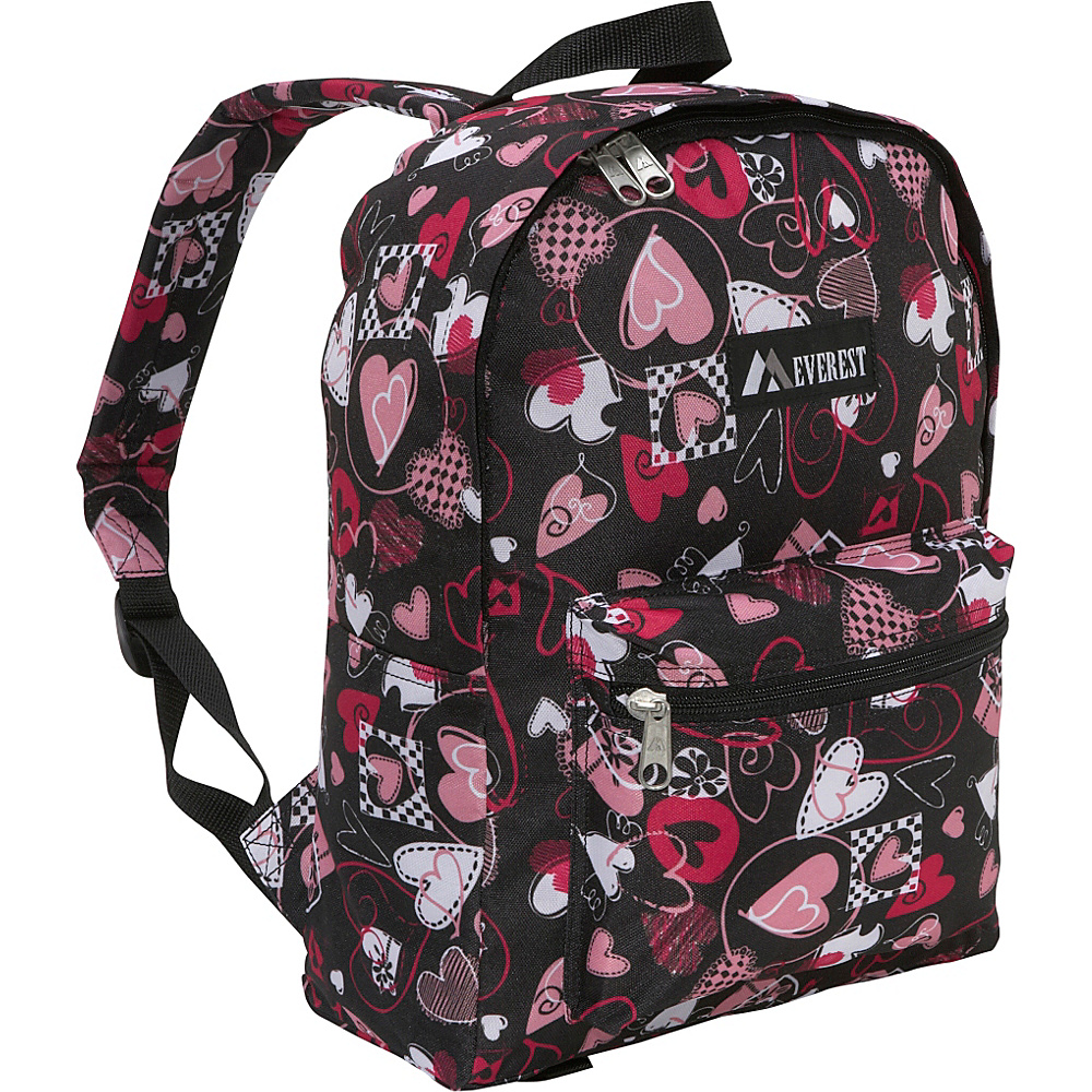 Everest Basic Pattern Backpack - Hearts - Backpacks, Everyday Backpacks
