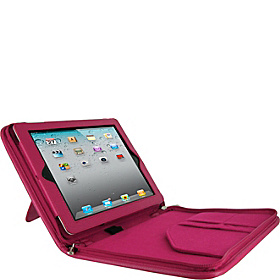 Executive Portfolio Leather Case for iPad Generations 2, 3 & 4 Magenta