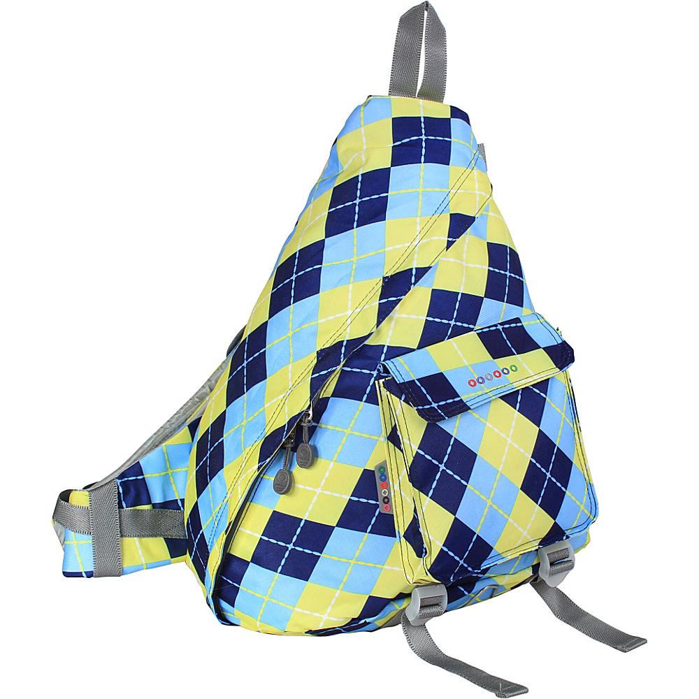 J World New York Kitten Sling Bag Argyle-Navy - J World New York Slings - Backpacks, Slings