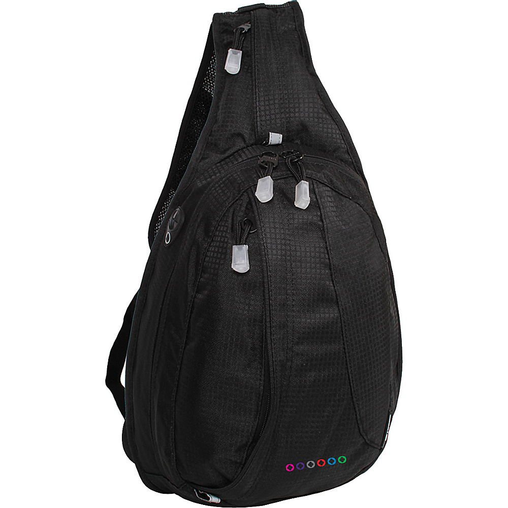 J World Stacy Sling Backpack - Black - Backpacks, Slings