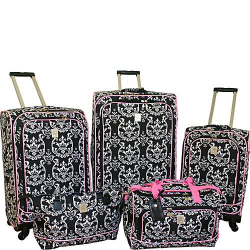 Pink And Black Luggage | Luggage And Suitcases