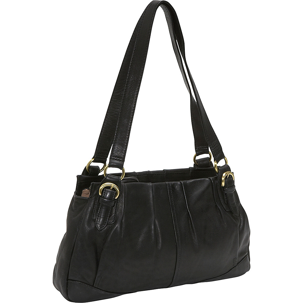 Derek Alexander EW twim shoulder - Black - Handbags, Leather Handbags