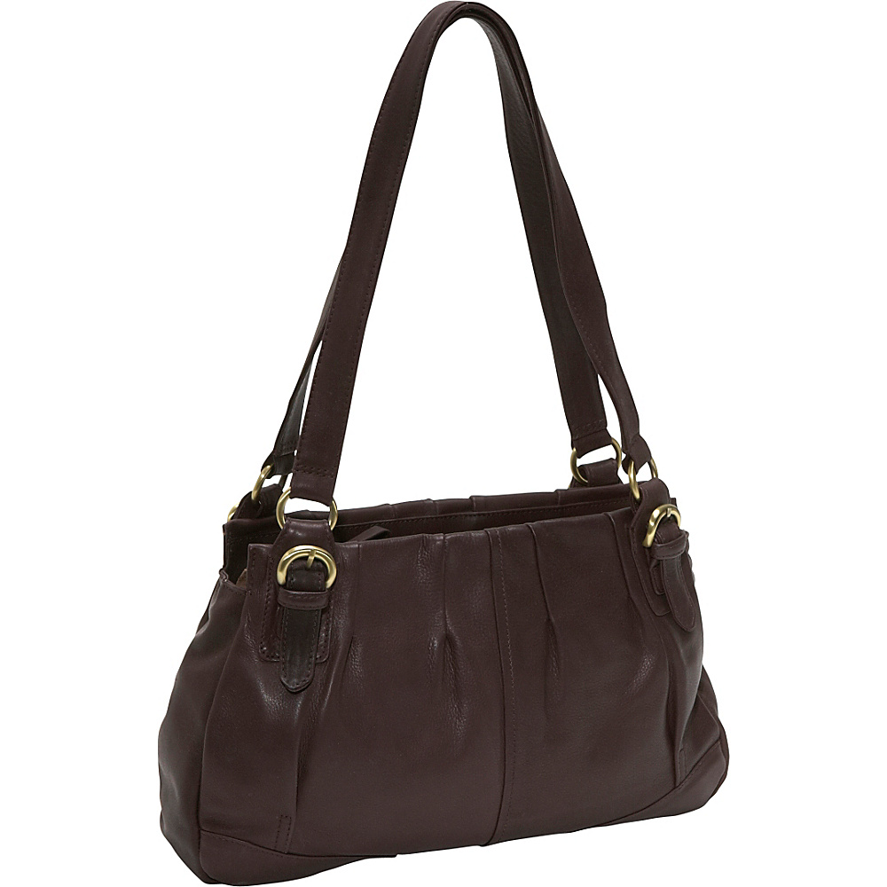Derek Alexander EW twim shoulder - Brown - Handbags, Leather Handbags