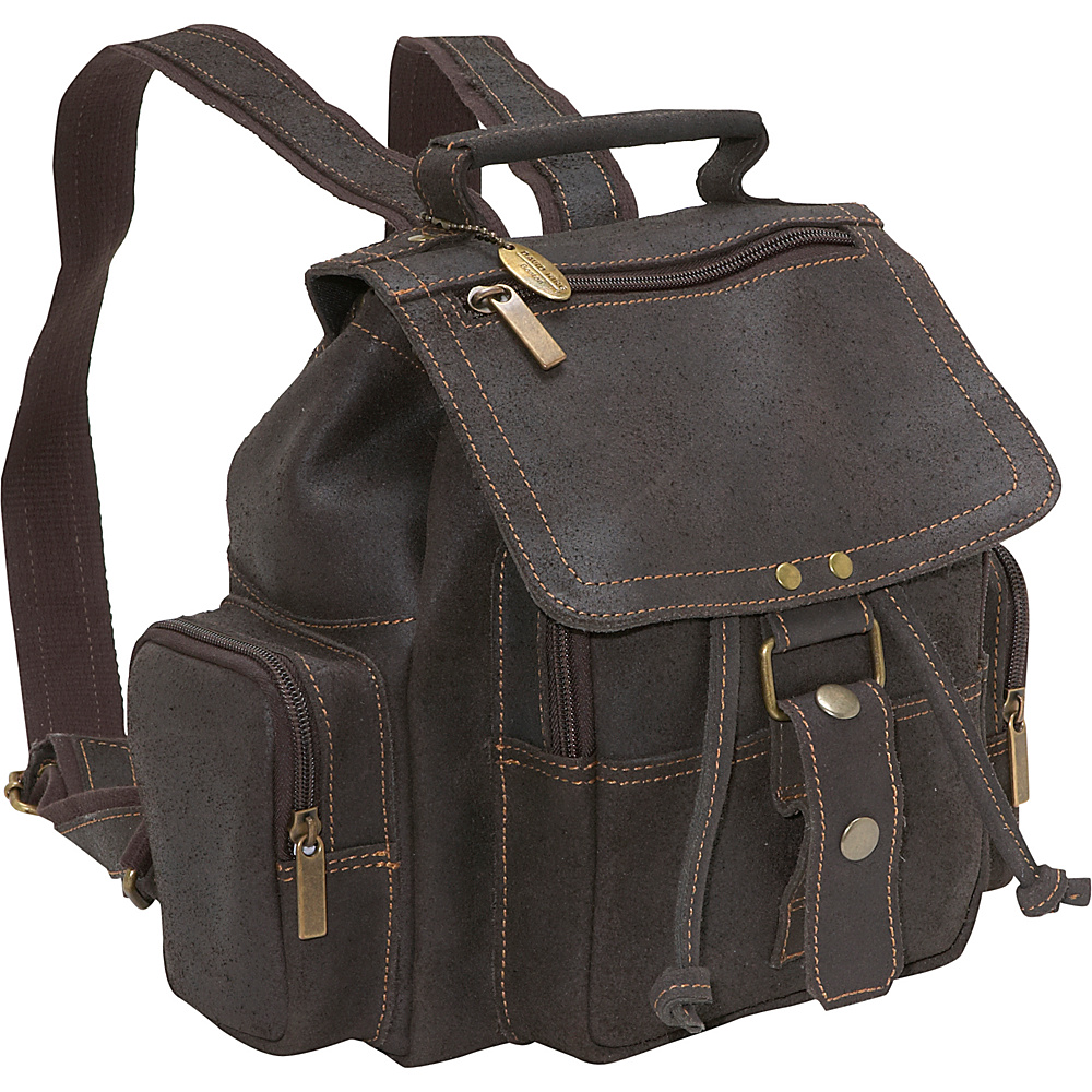 David King & Co. Distressed Mid Size Top Handle Backpack Distressed brown - David King & Co. Leather Handbags - Handbags, Leather Handbags