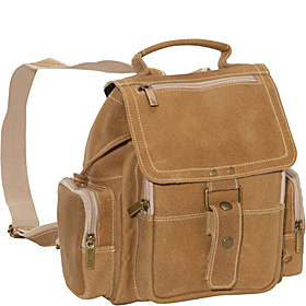 Distressed Mid Size Top Handle Backpack Tan