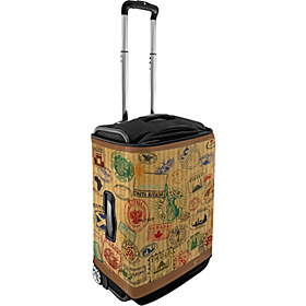 Large Luggage Cover - Travel Stamps Travel Stamp