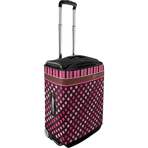 CoverLugg Large Luggage Cover - Polka Dots - Pink Polka