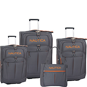Helmsman 4 Piece Luggage Set Grey/Orange
