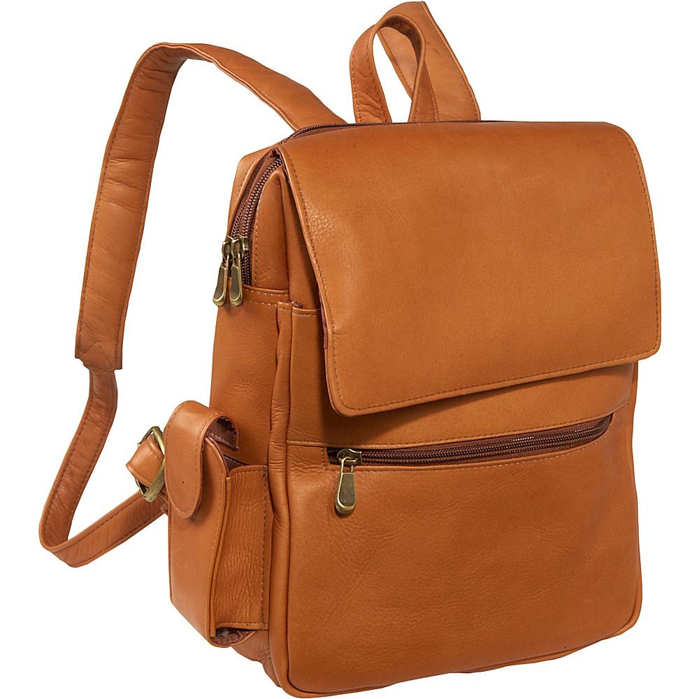 Le Donne Leather Ladies iPad / eReader Backpack - Tan - Handbags, Leather Handbags