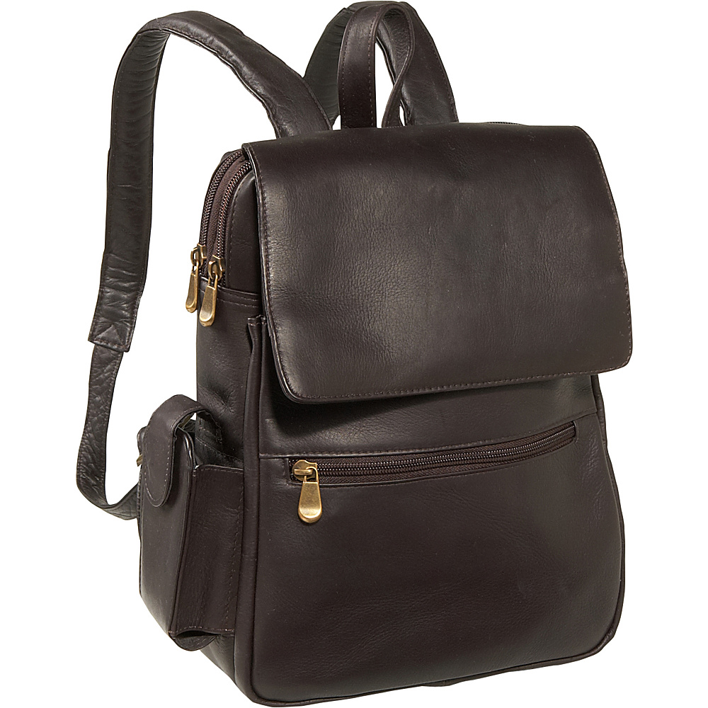 Le Donne Leather Ladies iPad / eReader Backpack - Caf - Handbags, Leather Handbags
