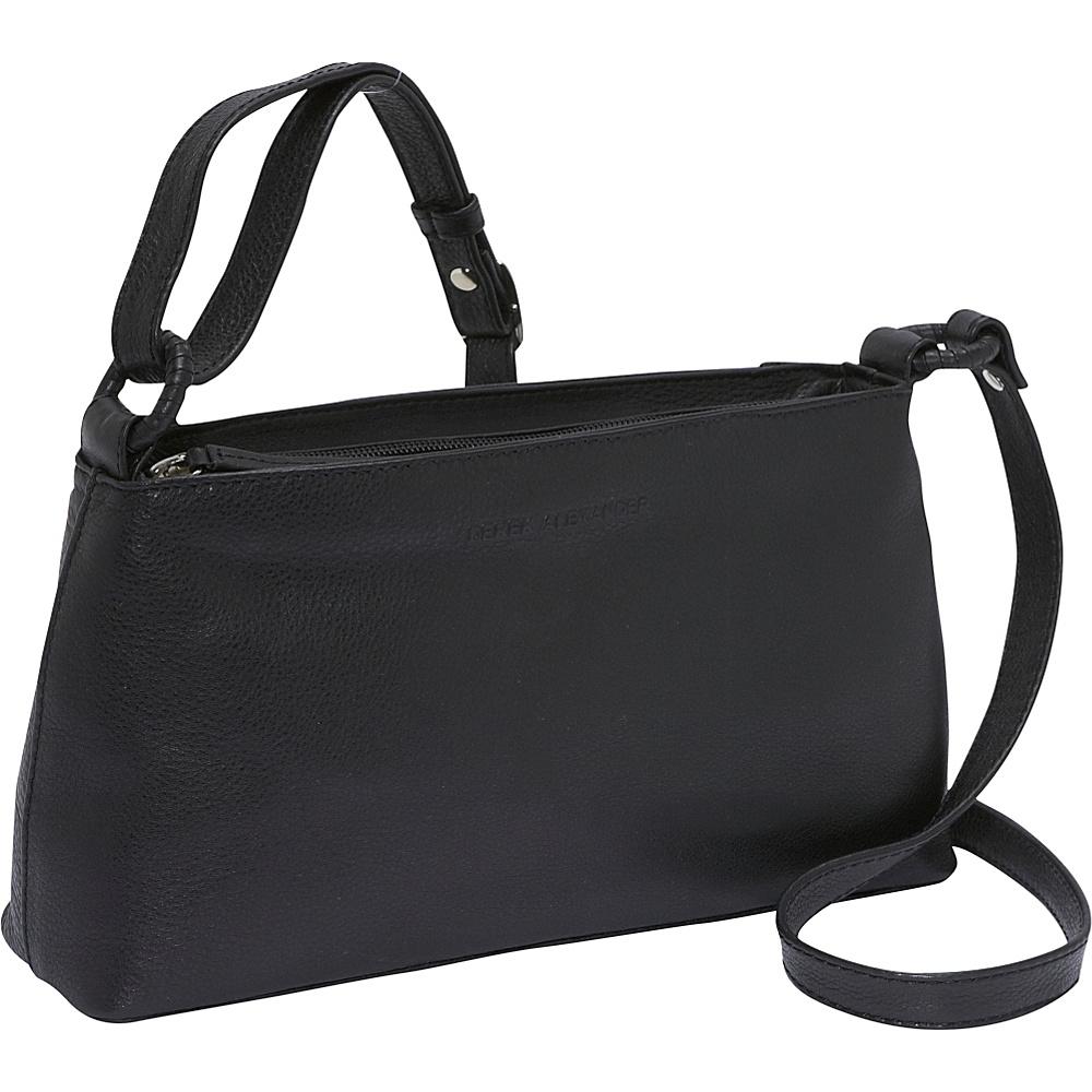 Derek Alexander EW Inset Top Zip - Black - Handbags, Leather Handbags