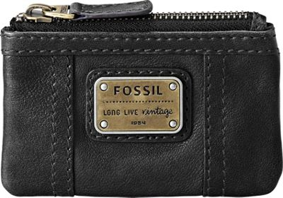 Fossil Emory Zip Coin - Black