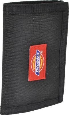 Dickies Wallets Trifold Fabric Wallet Black - Dickies Wallets Men's Wallets