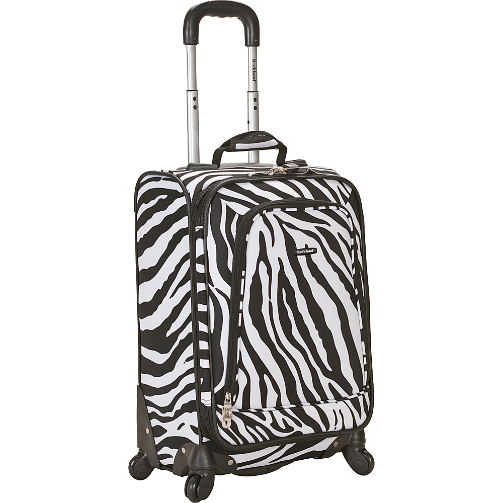 Rockland Luggage Venice 20 Spinner Carry On Zebra - Rockland Luggage Softside Carry-On - Luggage, Softside Carry-On