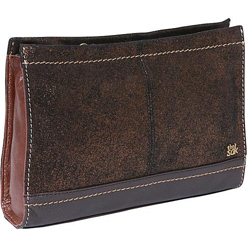 The Sak Iris Demi Clutch Teak Multi - The Sak Leather Handbags