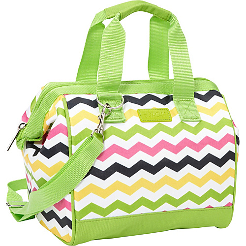 Sachi Insulated Lunch Bags Style 34 Lunch Bag Multi Color Chevron - Sachi Insulated Lunch Bags Travel Coolers