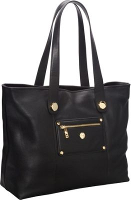 Knomo Paris Pebbled Leather E/W Laptop Shopper Tote (Battersea) Black - Knomo Ladies' Business