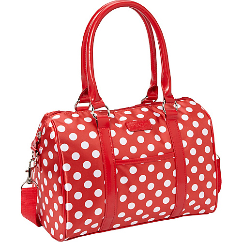 Sachi Insulated Lunch Bags Style 21 Ladies' Lunch Satchel Red Polka Dots - Sachi Insulated Lunch Bags Travel Coolers