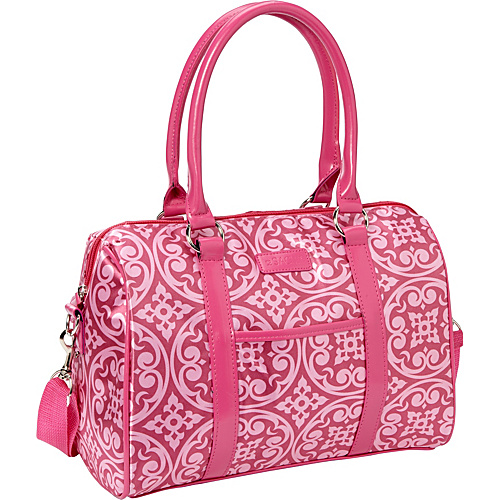 Sachi Insulated Lunch Bags Style 21 Ladies' Lunch Satchel Pink Medallion - Sachi Insulated Lunch Bags Travel Coolers