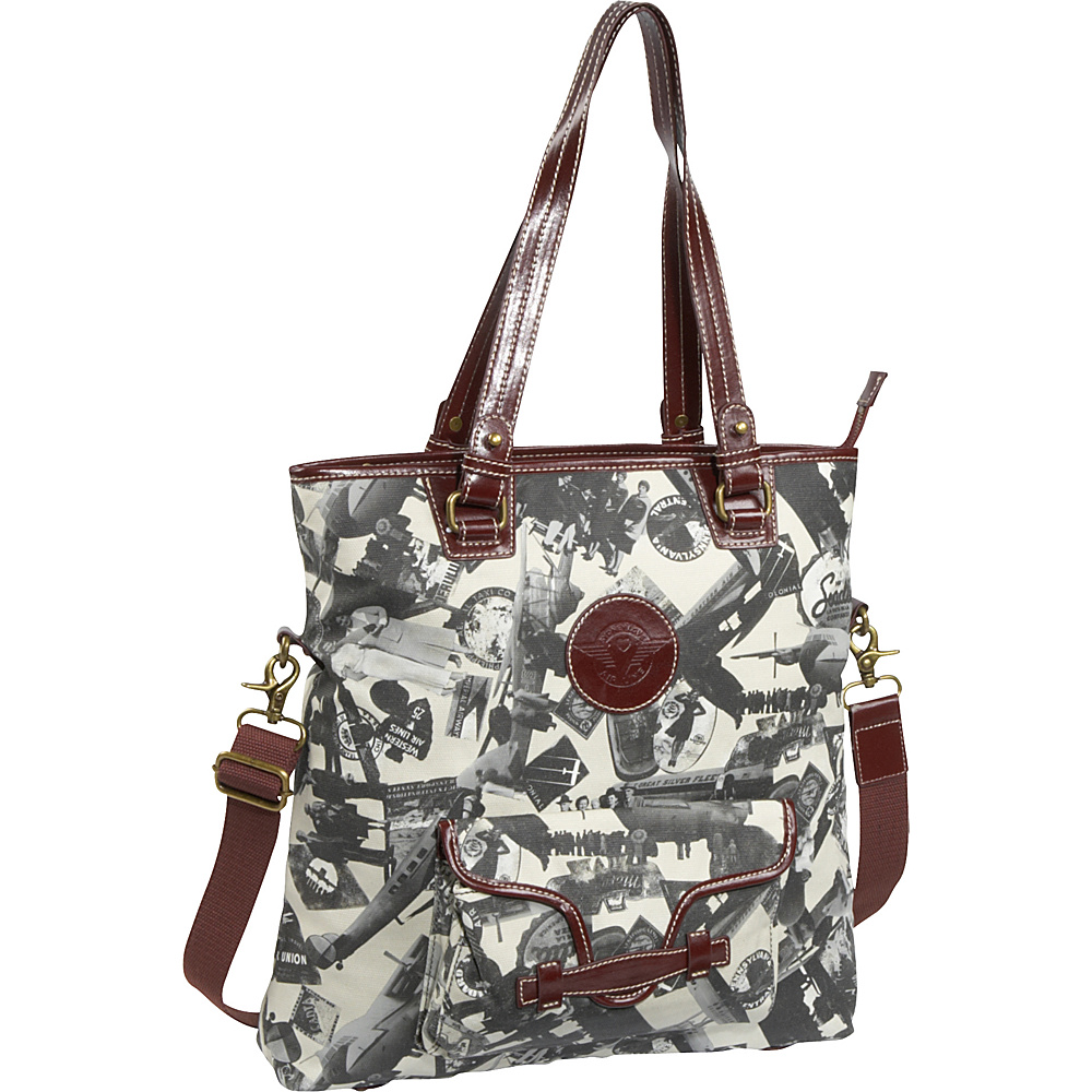 Sydney Love Going Places Fold Over Tote - Tote - Handbags, Fabric Handbags
