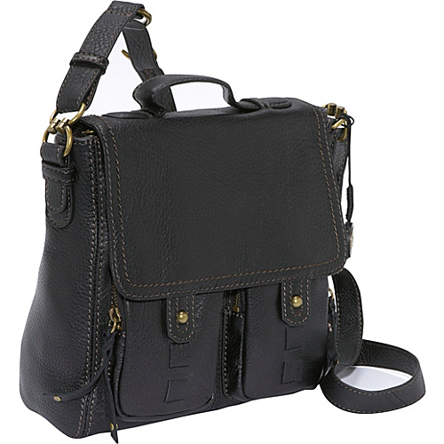 The Sak Fontana Leather Flap - Black