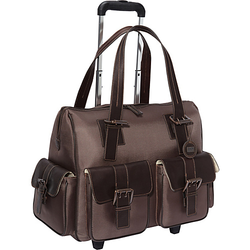 Jill-E Jack Rolling Camera Satchel Chocolate Brown - Jill-E Camera Cases