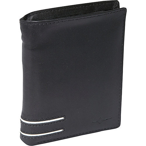 Buxton Luciano Deluxe Two-Fold - RFID - Black