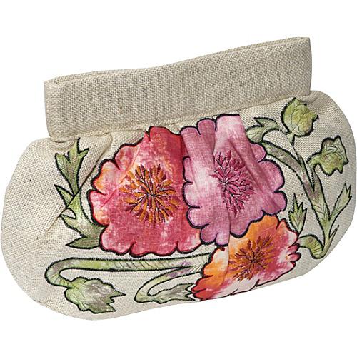 Moyna Handbags Jute Applique Clutch