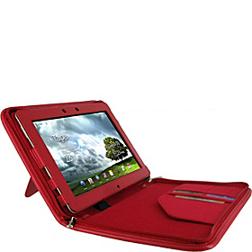 Executive Portfolio Leather Case for Asus EEE Pad Transformer PRIME TF201 Red