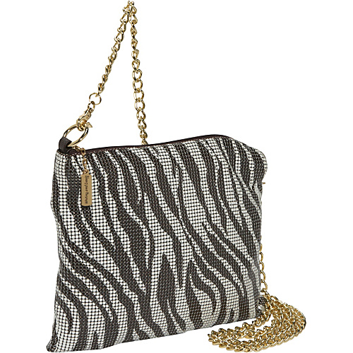 Whiting and Davis Zebra Mesh Hobo - Shoulder Bag