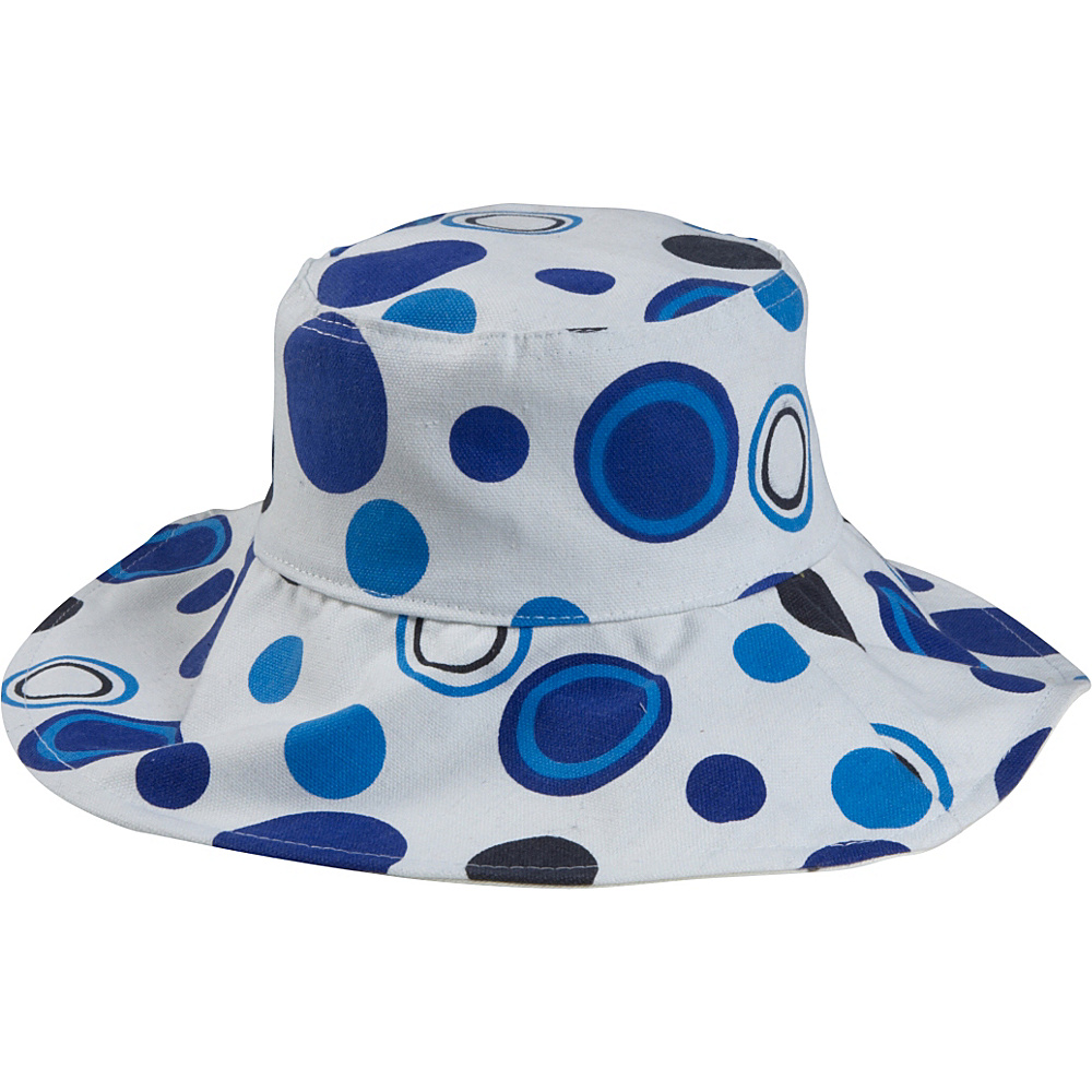 Magid Dot Print Bucket Hat - Blue/Dot - Fashion Accessories, Hats/Gloves/Scarves