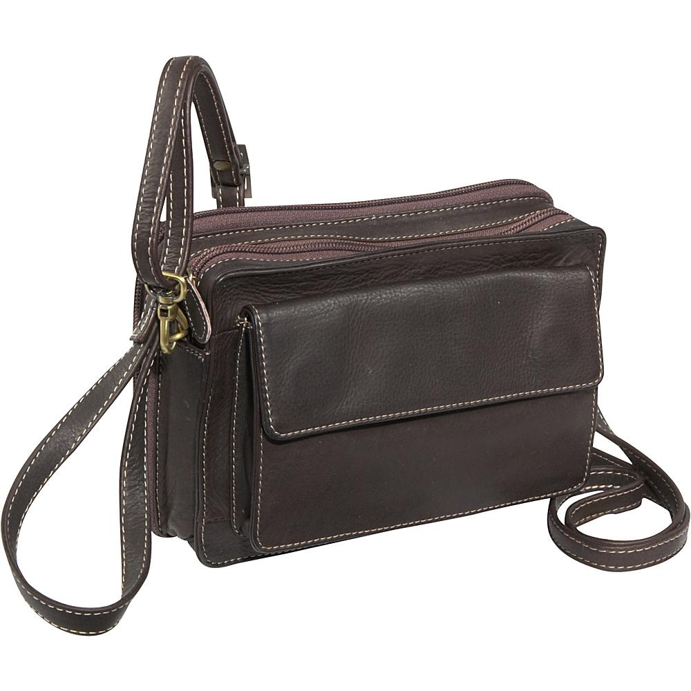 Derek Alexander EW Top Zip Organizer Brown - Derek Alexander Leather Handbags - Handbags, Leather Handbags