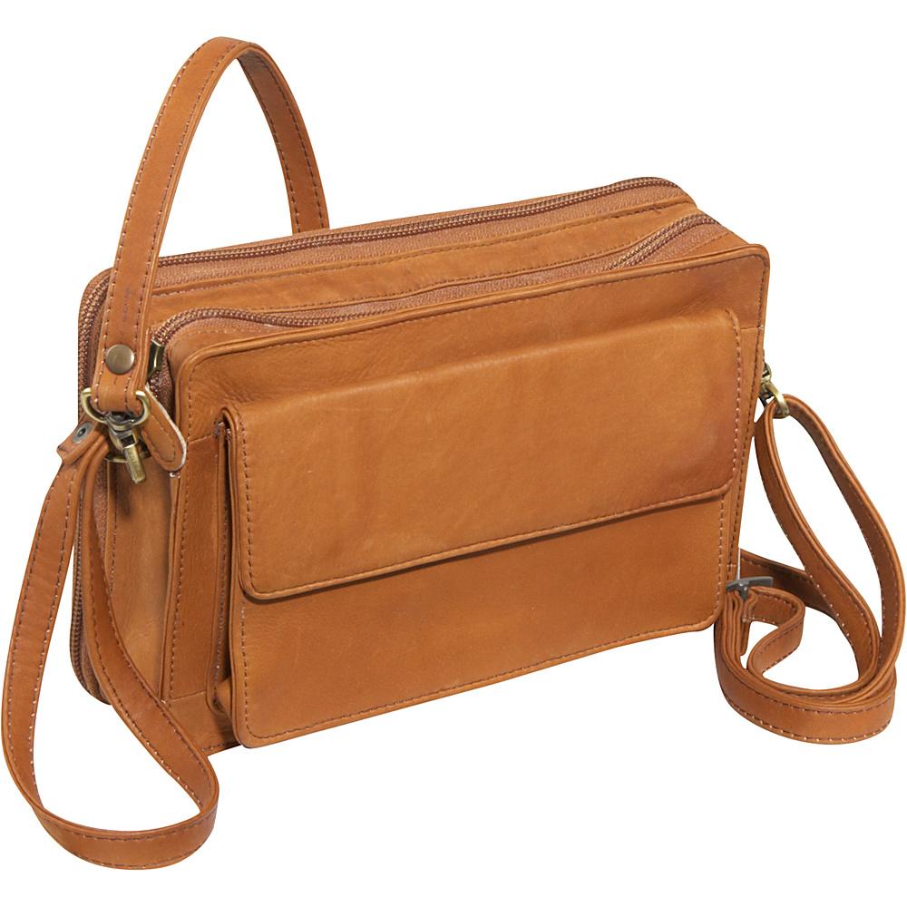 Derek Alexander EW Top Zip Organizer - Tan - Handbags, Leather Handbags