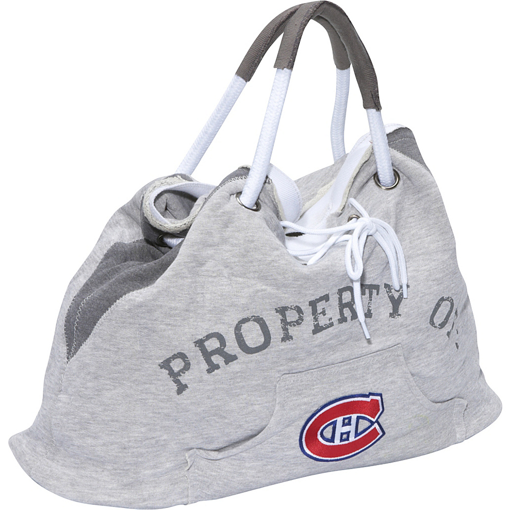 Littlearth NHL Hoodie Tote Grey/Montreal Canadiens Montreal Canadiens - Littlearth Fabric Handbags - Handbags, Fabric Handbags
