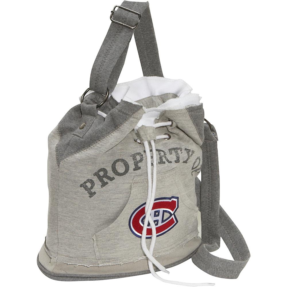 Littlearth NHL Hoodie Duffel Grey/Montreal Canadiens Montreal Canadiens - Littlearth Fabric Handbags