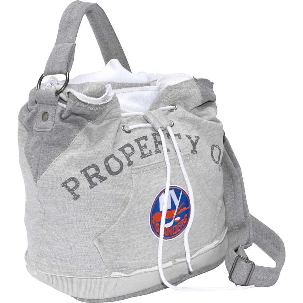 Littlearth NHL Hoodie Duffel Grey/New York Islanders New York Islanders - Littlearth Fabric Handbags