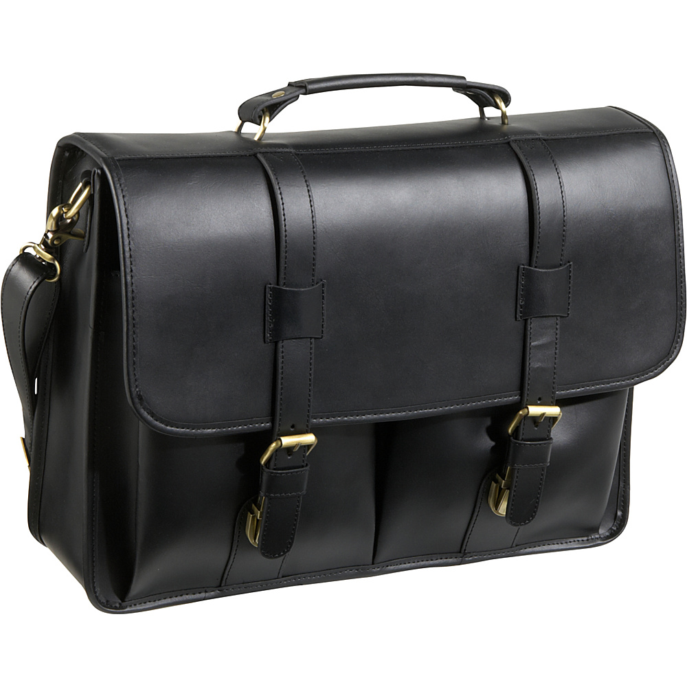 AmeriLeather Leather Executive Briefcase Black - AmeriLeather Non-Wheeled Business Cases - Work Bags & Briefcases, Non-Wheeled Business Cases