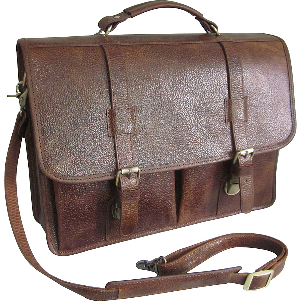 AmeriLeather Leather Executive Briefcase Brown - AmeriLeather Non-Wheeled Business Cases - Work Bags & Briefcases, Non-Wheeled Business Cases