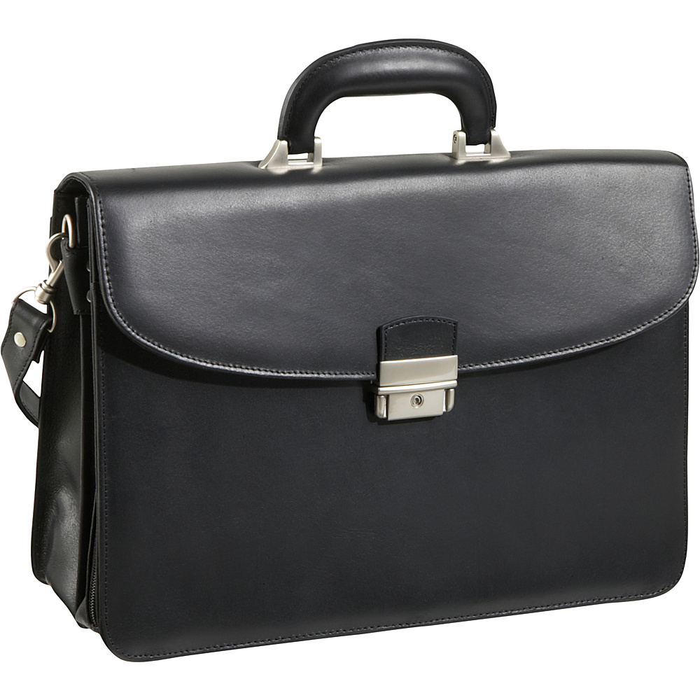 AmeriLeather APC Functional Leather Executive Briefcase - Work Bags & Briefcases, Non-Wheeled Business Cases