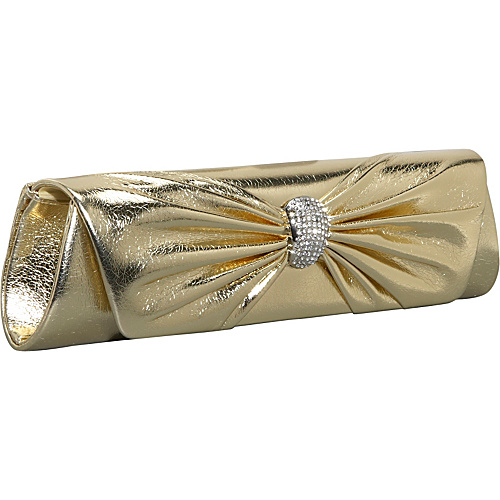 J. Furmani Metallic Clutch Gold - J. Furmani Evening Bags