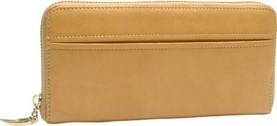 TUSK LTD Donington Gold Zip Clutch Wallet Golden - TUSK LTD Women's Wallets