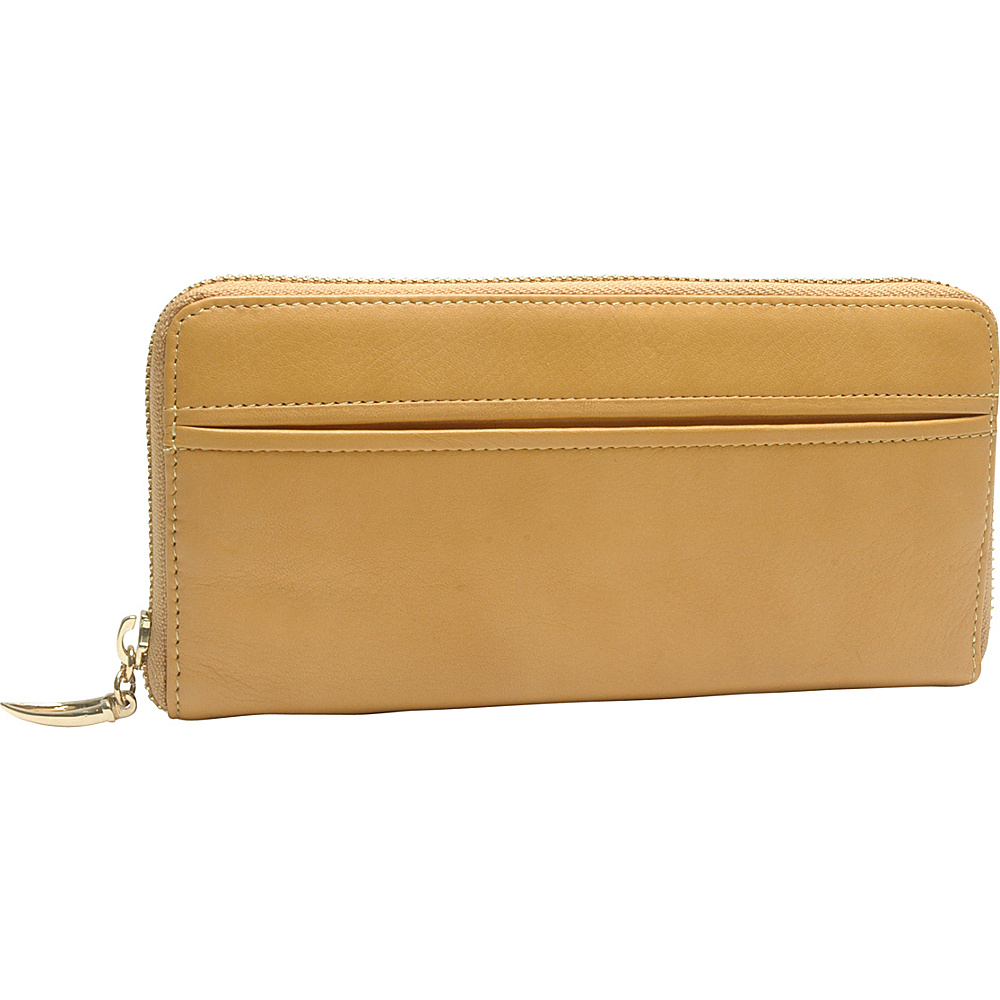 TUSK LTD Donington Gold Zip Clutch Wallet Golden TUSK LTD Women s Wallets
