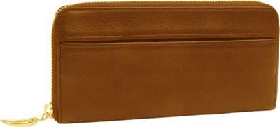 TUSK LTD Donington Gold Zip Clutch Wallet Wood - TUSK LTD Women's Wallets