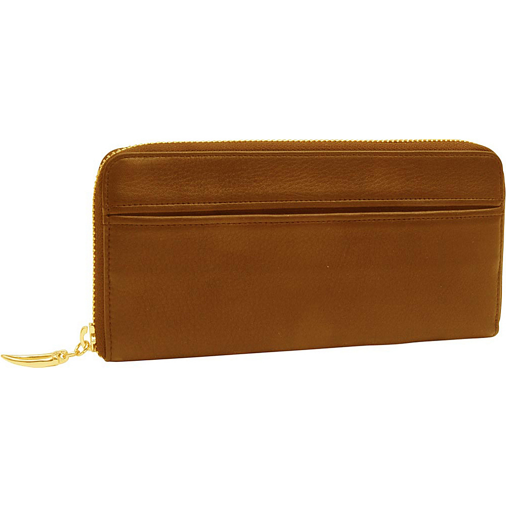 TUSK LTD Donington Gold Zip Clutch Wallet Wood TUSK LTD Women s Wallets