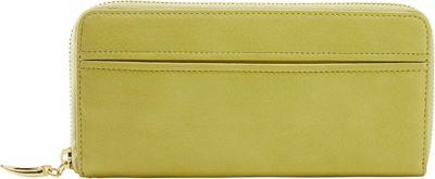 TUSK LTD Donington Gold Zip Clutch Wallet Lime - TUSK LTD Women's Wallets