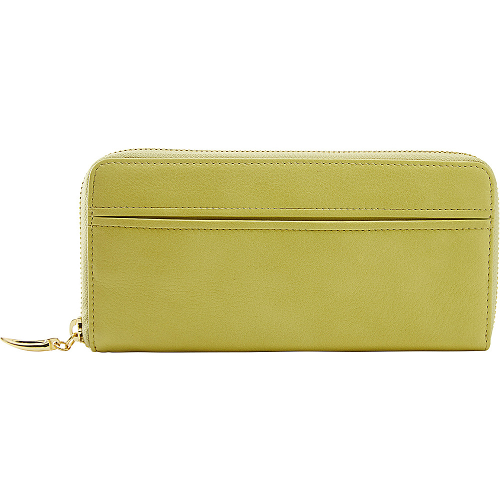 TUSK LTD Donington Gold Zip Clutch Wallet Lime TUSK LTD Women s Wallets