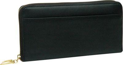 TUSK LTD Donington Gold Zip Clutch Wallet Black - TUSK LTD Women's Wallets