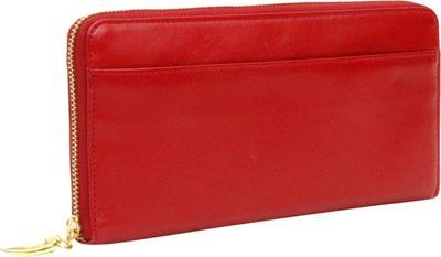 TUSK LTD Donington Gold Zip Clutch Wallet Red - TUSK LTD Women's Wallets