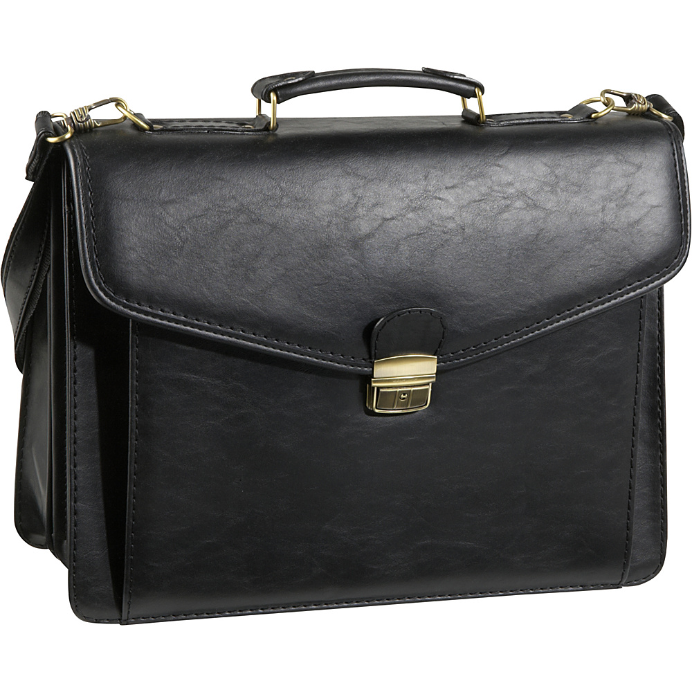AmeriLeather Cleveland Executive Briefcase - Black - Work Bags & Briefcases, Non-Wheeled Business Cases