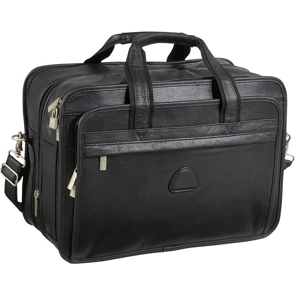 AmeriLeather Leather Practical Expandable Laptop Case - Work Bags & Briefcases, Non-Wheeled Business Cases